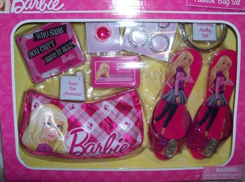 51cDCwDzceL Cheap  Barbie Fashion Bag Set. With Shoes, Fashion Handbag, Earrings, Bracelet, Ring, Wallet and Faux Credit Card.