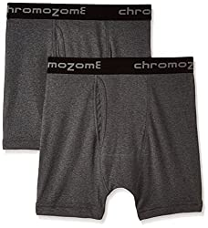 Chromozome Men's Cotton Trunks (Pack of 2) (8902733353571_IT11_2pccharcoal_S)