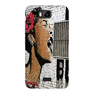 Singing Girl Back Case Cover for Honor Bee