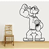 Decal Style Popeye Wall Sticker Small Size-14*21 Inch