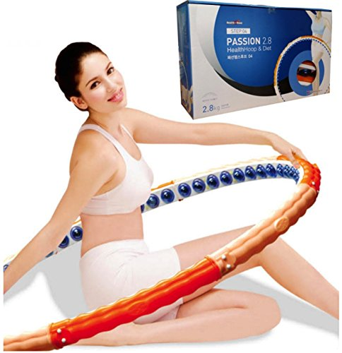 Health Hoop®-passion Magnetic Weighted Hula Hoop Massage 6.17lb2.8kg Exercise,fitness Step 4 Advance