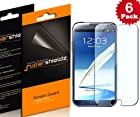 SUPERSHIELDZ- High Definition (HD) Clear Screen Protector Shield For Samsung Galaxy Note 2 [6 Pack] + Lifetime Replacements Warranty (AT&T, Verizon, Sprint, T-mobile, All Carriers)- Retail Packaging
