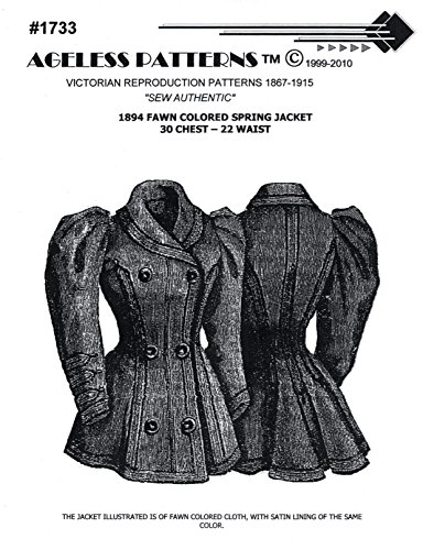 1894 Fawn Colored Spring Jacket Pattern