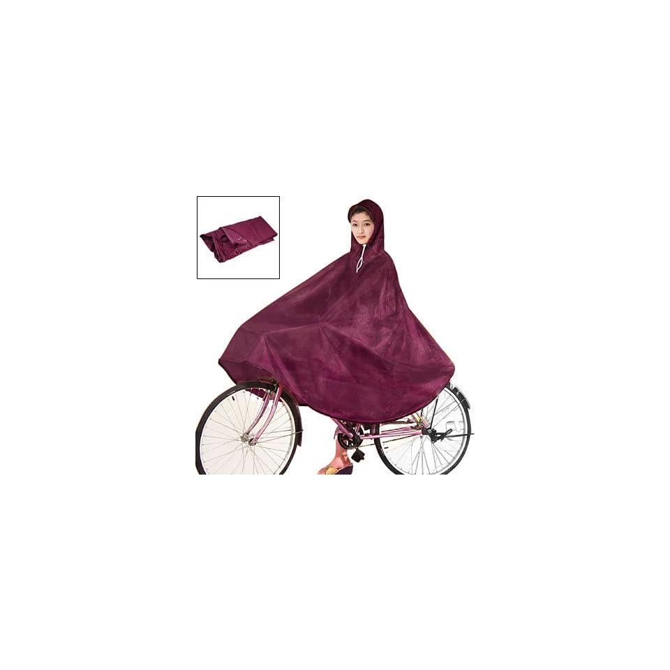Women Men Dark Red Cycling Bicycle Bike Raincoat Rain Cape