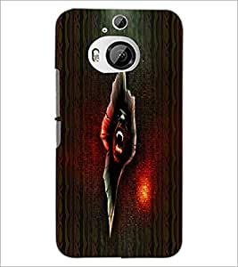 PrintDhaba Scary Image D-4006 Back Case Cover for HTC ONE M9 PLUS (Multi-Coloured)