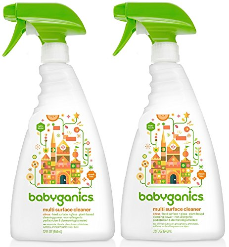 Babyganics Multi Surface Cleaner Citrus, 32 Ounce, 2 Pack (Babyganics Multi Surface Cleaner compare prices)