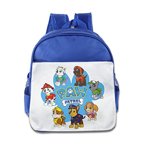 Fennessy Custom Cute Dog Patrol Paw Kids Children School Bag Backpack For 1-6 Years Old RoyalBlue
