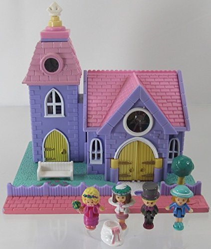 1993 Vintage Polly Pocket Wedding Chapel Bluebird Toys