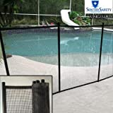"""Sentry Safety Pool Fence Visiguard 4"""" Tall 12"""" Long Removable Child Barrier Pool Safety Mesh Fence (Black)"""
