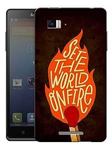 "Set The World On Fire Printed Designer Mobile Back Cover For ""Lenovo Vibe Z K910"" By Humor Gang (3D, Matte Finish, Premium Quality, Protective Snap On Slim Hard Phone Case, Multi Color)"