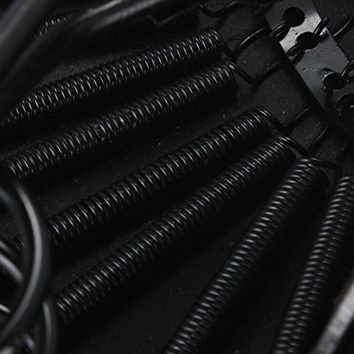 OUTERDO Bicycle Bike Vintage Imitation Leather Dual Coil Spring Rear Saddle Seat Black 5