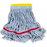 Rubbermaid Commercial FGC15106BL00 Swinger Wet Mop Head, 5-inch Headband, Small, Blue