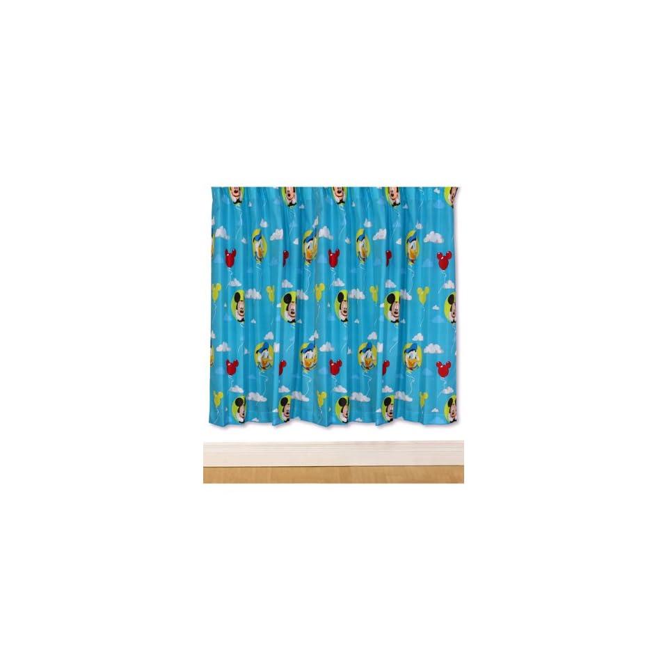 Disney Mickey Mouse 2St. Fertig Gardinen / Vorhänge Set je L 138 cm x