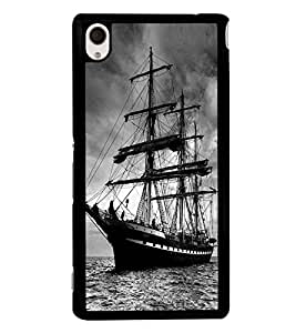 Fuson Premium 2D Back Case Cover Ship With yellow Background Degined For Sony Xperia M4 Aqua::Sony Xperia M4 Aqua Dual