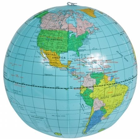 Inflatable Globe (Light Blue) Party Accessory