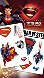 Superman Man of Steel Cartoon Temporary Tattoo Pack