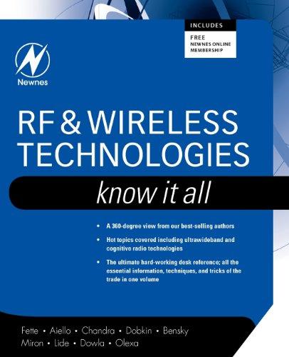 Rf & Wireless Technologies: Know It All (Newnes Know It All)