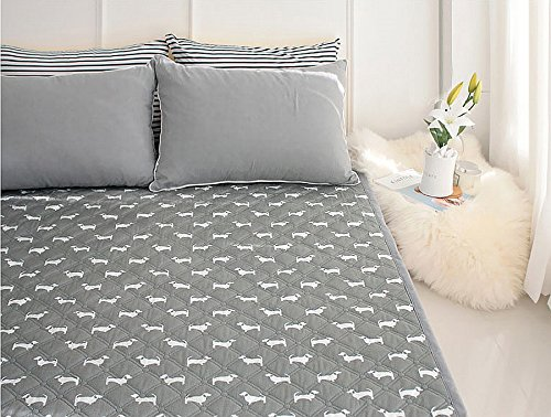 Dachshund Electric Heated Blankets Warm Mattress Pad Electric Warming Pads,Home & Garden,Bedroom.Lower Energy Cost.No Electromagnetic Wave. (L : 53X71Inch (135X180Cm))