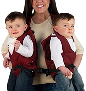 Stuff 4 Multiples TwinTrexx Twin Baby Carrier, Burgundy