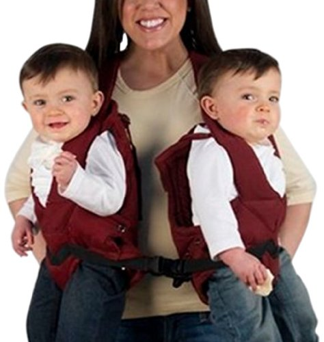 Stuff 4 Multiples TwinTrexx Twin Baby Carrier, Burgundy - 1