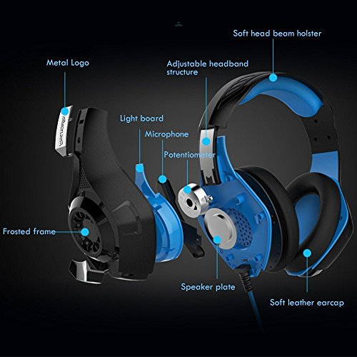 Gaming-Headset-Matone-Over-Ear-Gaming-Headphones-with-Volume-Control-USB-35mm-Noise-Cancelling-Earphones-Built-in-Mic-Stereo-Bass-LED-Light-for-PS4-PC-Tablet-Laptop