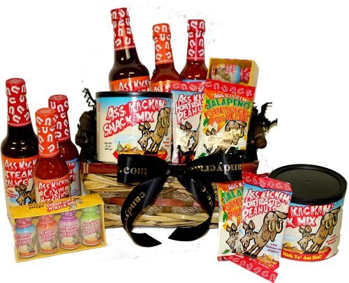 Ass Basket, Ass Kickin' Hot Sauce Gift Basket