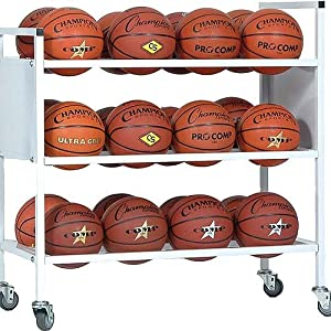 Champion Sports Double Wide Basketball Ball Cart by Champion Sports