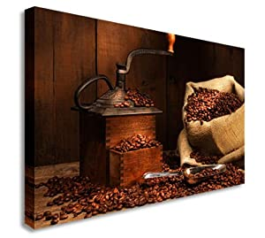 Coffee Beans + Grinder Shop Wall Picture Canvas Prints Art Cheap from Art Okay