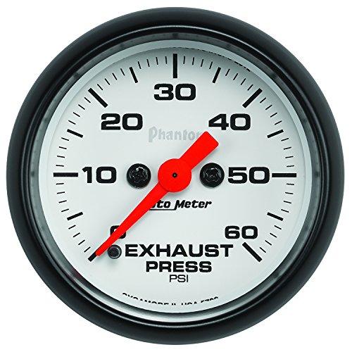 "Auto Meter (5792) Phantom 2-1/16"" 0-60 Psi Full Sweep Electric Exhaust Pressure Gauge"