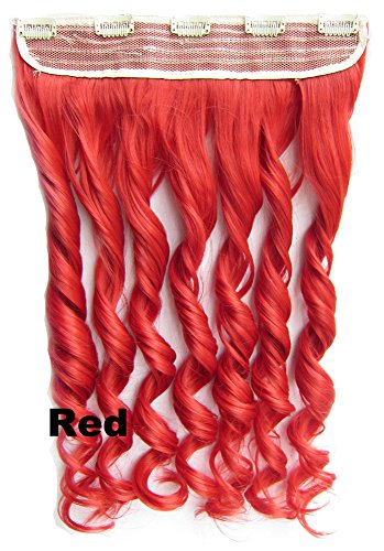 """Btartbox Color Highlight 24"""" Long Curly Clip In Hair Extension Hairpiece Purple"""
