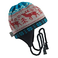 Turtle Fur - Men's Moose Crossing, Classic Wool Ski Earflap Hat