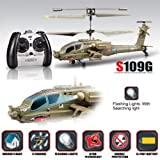 Syma S109G Apache Mini 3.5CH RC Helicopter with Gyro Army Green (Package Includes: 1 * RC helicopter 1 * Remote control 1 * Tail blade 1 * USB charger cable 1 * User Manual)