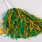 Kelly Green and Gold Pom Poms