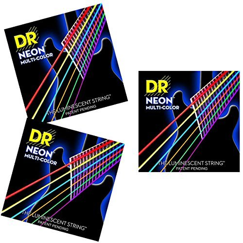 Buy 2 Get 3 DR Strings NMCE-11 Multicolor Neon Medium 11-50