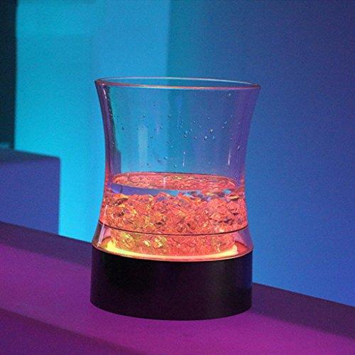 QINQIN Seau à glace acrylique fashion luminescents champagne LED taille