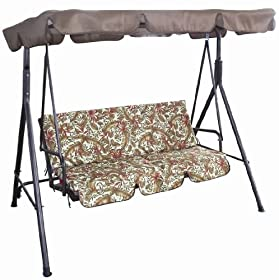 Reviews Bonnevie 3 Seat Swing With Canopy Sale Agnfdsj