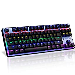 Jelly Comb Mechanical Keyboard, Black Switches for Tactile High-Speed Feedback, Black Gaming Keyboard with 6 Adjustable Backlit