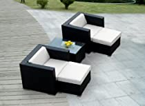 Hot Sale ohana collection PN0503 Genuine Ohana Outdoor Patio Wicker Furniture 5-Piece All Weather Gorgeous Couch Set