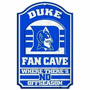 Buy NCAA Duke Blue Devils 11-by-17 Fan Cave Wood Sign by WinCraft