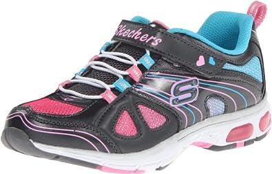 Skechers Kids 10267L Light Ray Sparkle Party Sneaker,Gunmetal/Multi,11 M US Little Kid