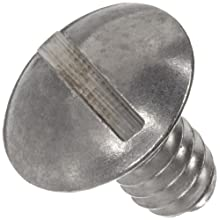 Thomas 304 Stainless Steel Slotted Truss Head Mounting Screw, #6-32 Thread x 1/4&#034; Diameter