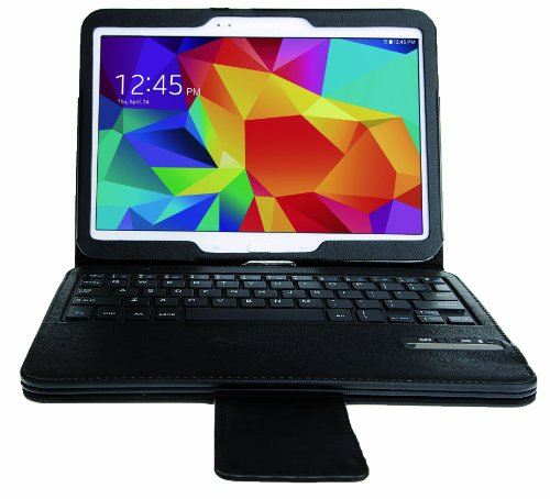 VSTN ® Samsung Galaxy Tab 4 10.1 ultra-thin Bluetooth Keyboard Portfolio Case - DETACHABLE Bluetooth Keyboard Stand Case / Cover, only fit Samsung Galaxy Tab 4 10.1 (For Galaxy Tab 4 10.1, Black)