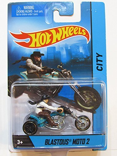 Hot Wheels HW City Blastous Moto 2 Trike Motorcycle with Rider Die-cast Collectible