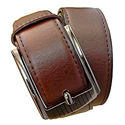 Sunshopping mens brown pu leather belt (ksk201) (Free Size)