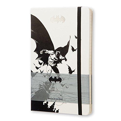 Moleskine Batman Limited Edition Notebook, Large, Ruled, White, Hard Cover (5 x 8.25)
