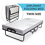 Milliard Diplomat Folding Bed - with Luxurious Memory Foam Mattress and a Super Strong Sturdy Frame