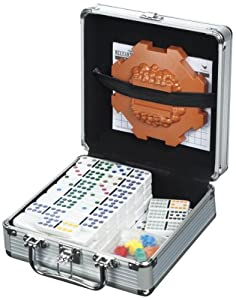 Cardinal Industries Mexican Train Domino Game in an Aluminum Case
