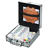 Cardinal Industries Mexican Train Domino Game in an Aluminum Case ~ Cardinal Industries
