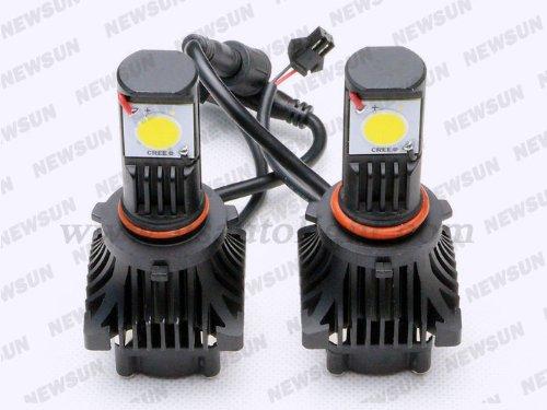 Newsun Super Bright 1800 Lumens Cree Cxa1512 25W H10 Led Car Head Light Bulb5000K 12/24V H10 Led Headlamp For Car Truck Jeep