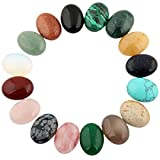Mutilcolor 12pcs 10x14mm Oval Teardrop Random Color CAB Cabochon Beads Crystal Quartz Stone Wholesale for Jewelry Making